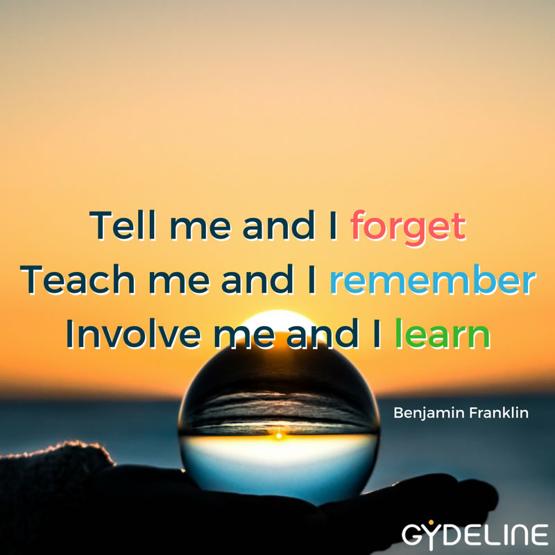 Involvement is the best route to embed learning