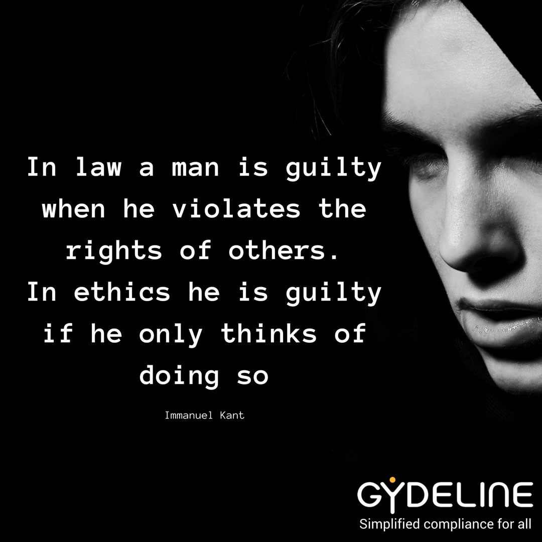 Law is about action. Ethics is about thoughts